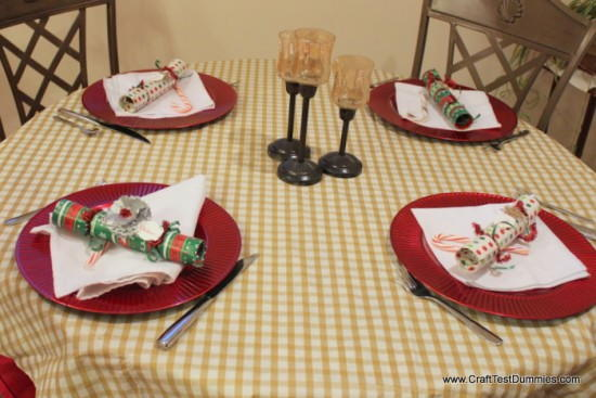 English Christmas Cracker Place Settings