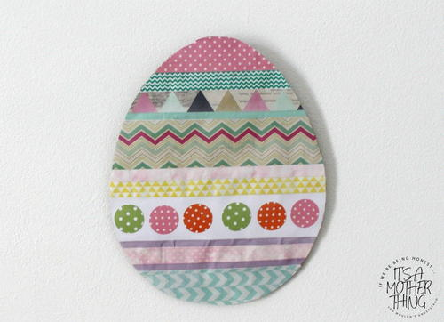 Washi Tape Easter Egg Wall Hanging Craft