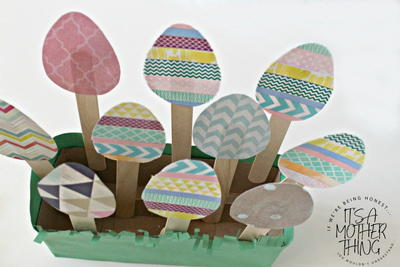 Washi Tape Easter Egg Garden Craft