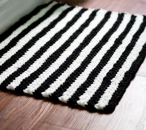 Tribal Stripes Bath Mat
