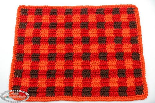 Rustic Red Double Crochet Placemat