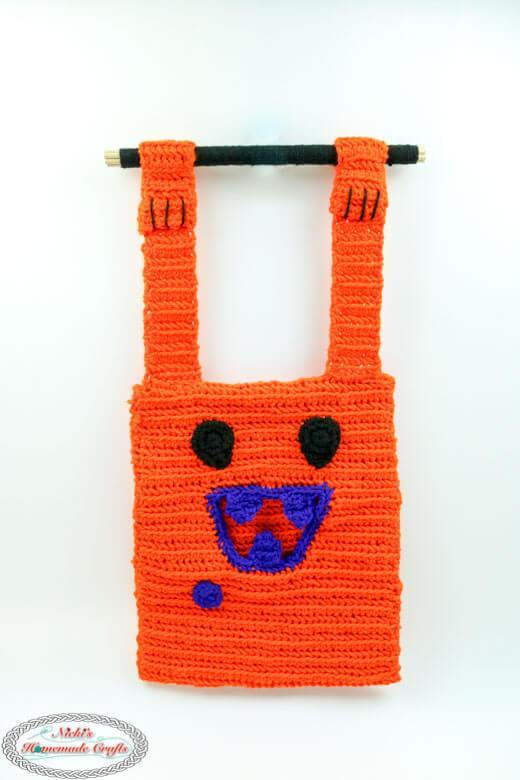 Hungry Monster Halloween Crochet Bag