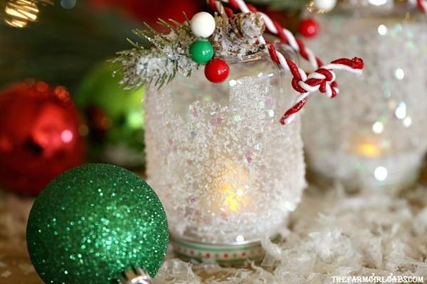 DIY Snowy Lantern Ornament