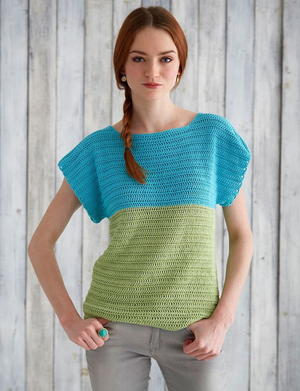 Crochet Summer Colorblock Top