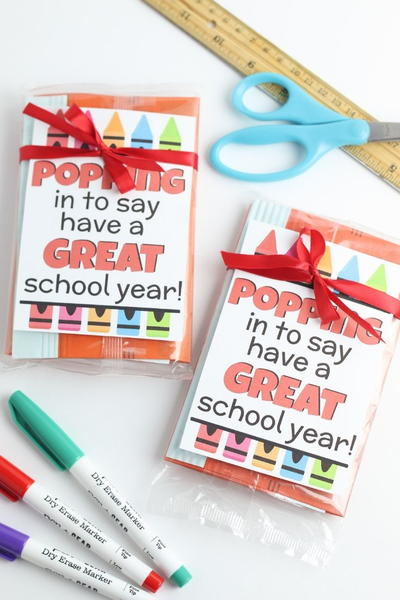 Printable Just Poppin Back To School Teacher Gift