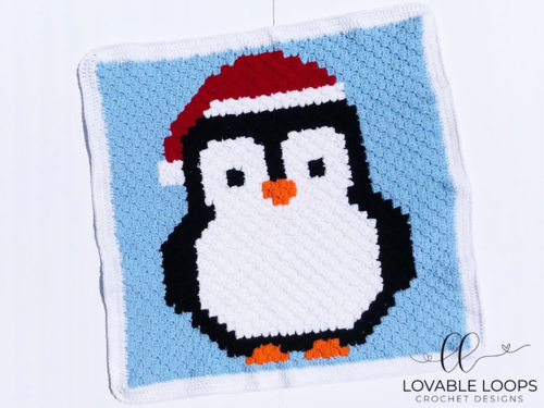 Penguin Christmas Blanket