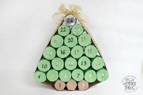 Adorable Toilet Paper Roll Advent Calendar