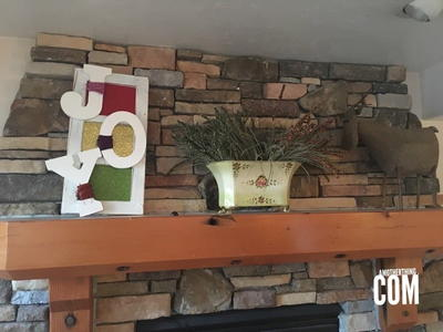 Easy DIY Joy Mantel Decor
