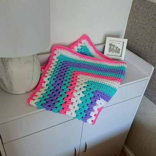 Two In One Granny Square Blanket