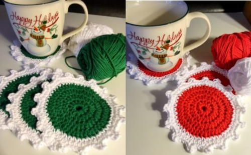 Christmas Coaster Pattern