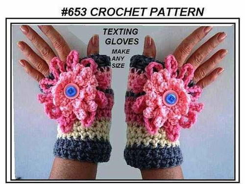 Floral Fingerless Texting Gloves