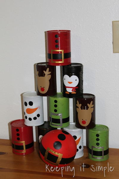 Christmas Bowling Cans