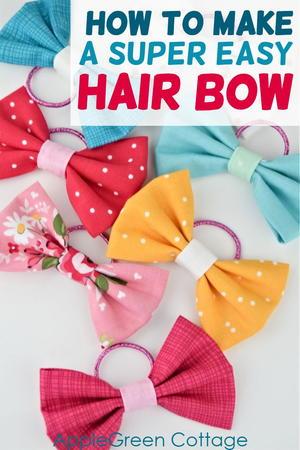 Super Easy Diy Hair Bows Allfreesewing Com