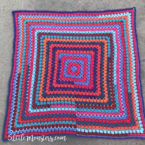 Color Pop Crochet Baby Afghan