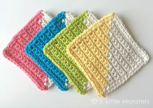 Stylish 2 Color Crochet Coaster Pattern
