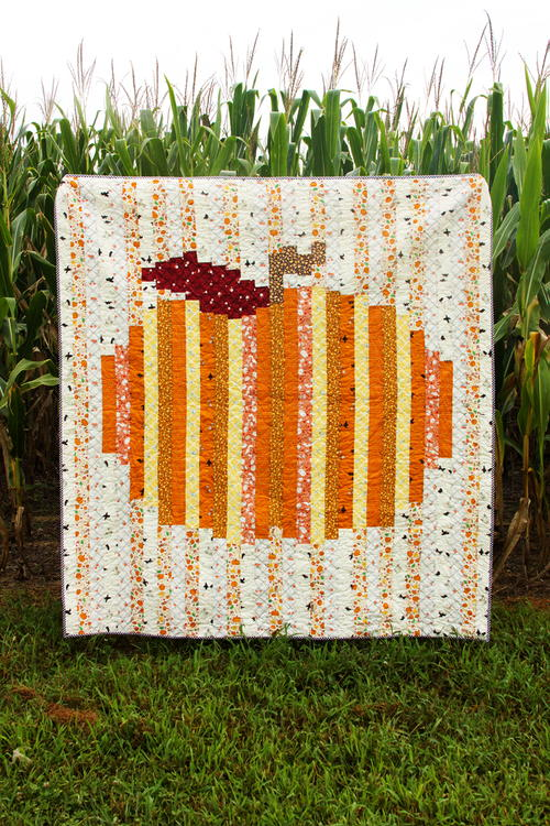 Colorful Strip Pumpkin Quilt