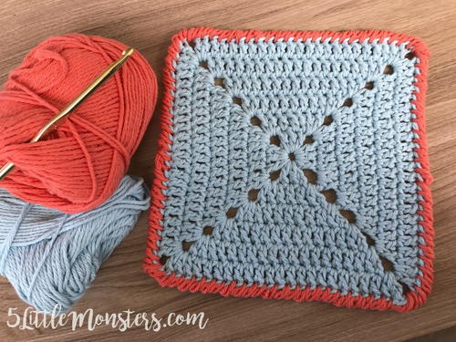 Delightful Crab Stitch Crochet Dishcloth