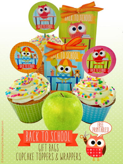 Matching Back to School Party Printables