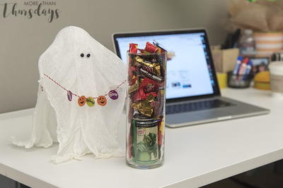 Cheesecloth Ghost DIY Decoration