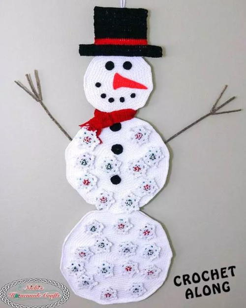 Friendly Snowman Crochet Advent Calendar