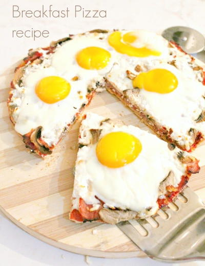 Breakfast Pizza Recipe with Eggs