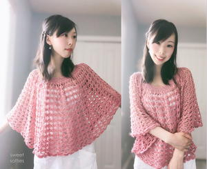 Rose Finch Capelet Vintage Lace Poncho