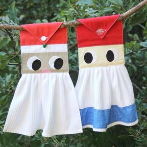 Santa or Gnome Hanging Kitchen Towel