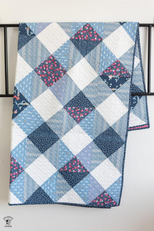 Gingham Quilted Blanket Pattern