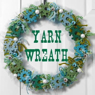 Snowflake and Yarn Wreath