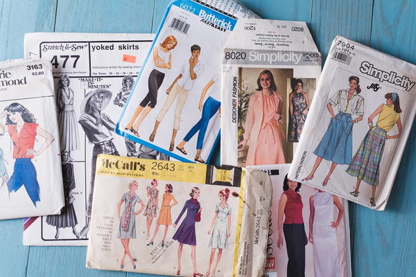 Example of traditional sewing patterns.