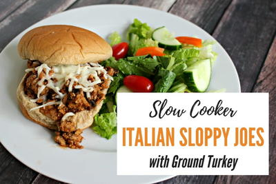 Ground Turkey Slow Cooker Italian Sloppy Joes