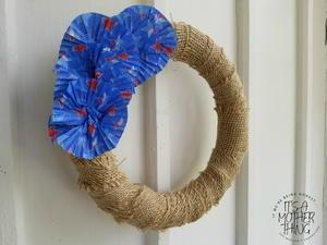 Dollar Store DIY Patriotic Cupcake Wreath