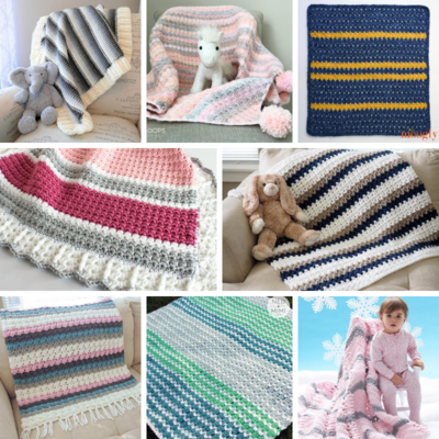 Striped Bulky Baby Blanket Patterns