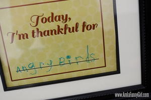 Today I'm Thankful Picture Frame