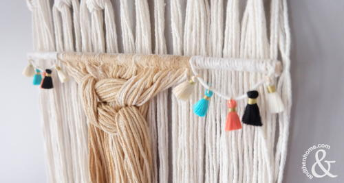 Coffee-Dyed Macrame Wall Hanging