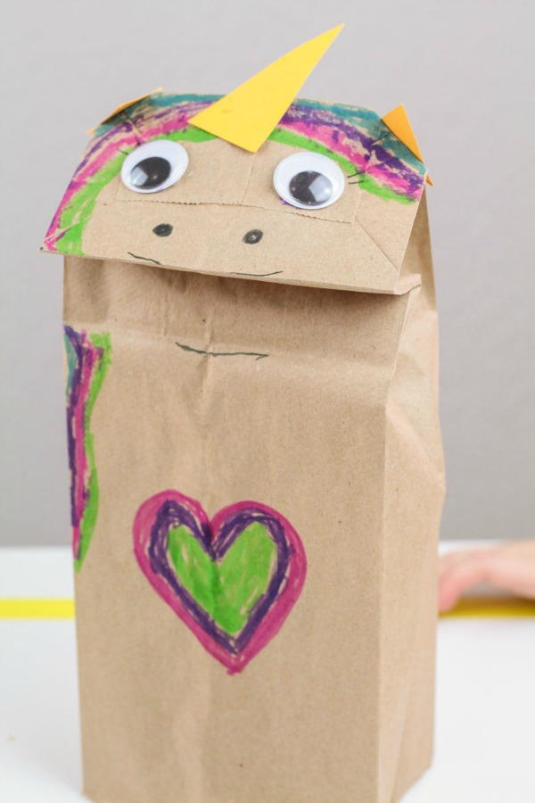 Easy Unicorn Paper Bag Craft