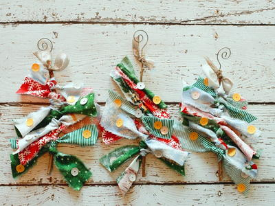Kid-Friendly Fabric Tree Ornaments
