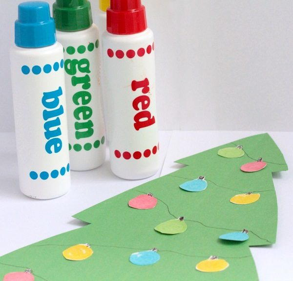 Dot Marker Christmas Lights Craft for Kids