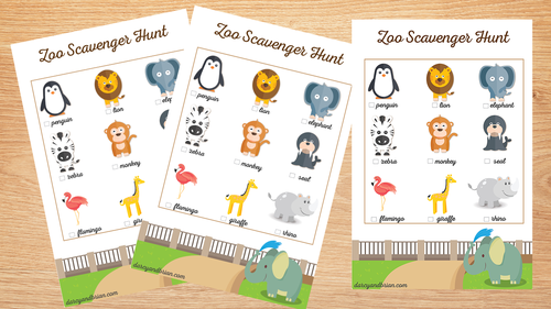 Free Printable Zoo Scavenger Hunt