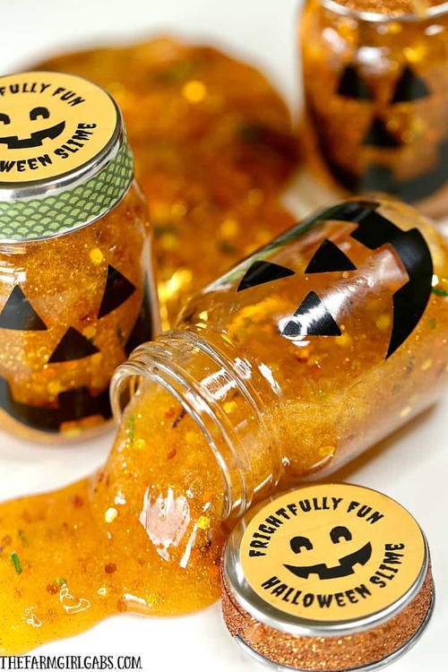 Halloween Slime Party Favors