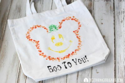 Eraser-Stamped Disney Halloween Treat Bag