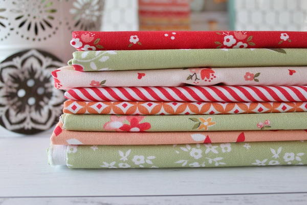 Sewing Inspiration - image shows a stack of folded fabric.