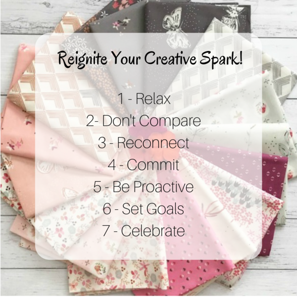 Reignite Your Creative Spark - image shows steps for reigniting your creative spark.