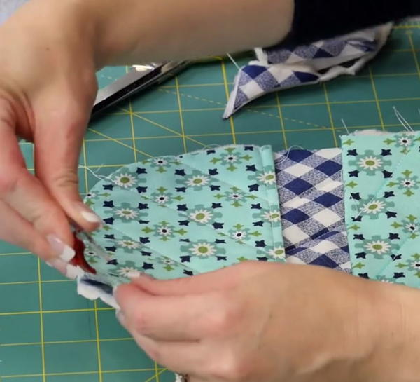 Example of clipping quilts.