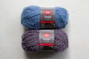 Slate Blue and Sterling Red Heart Hygge Yarn Giveaway