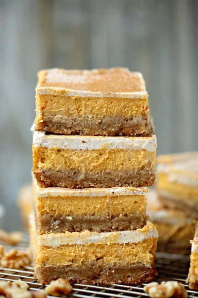 Layered Pumpkin Squares
