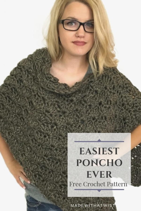 The Fastest, Easiest Crochet Poncho Pattern Ever