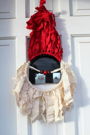 Santa Claus Macrame Door Decor