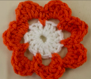 How to Crochet a Two Colored Flower