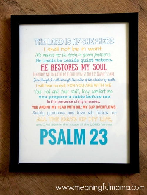 Psalm 23 Printable Wall Art